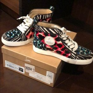 Pony hair Louboutin sneakers
